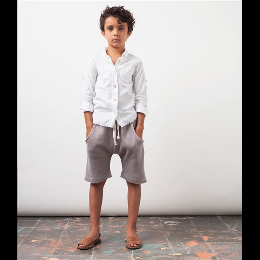 Šorc za dečake , organski pamuk, mekan i udoban sive boje