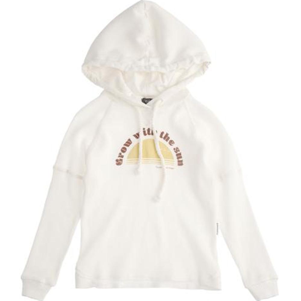 Belo mlečna boje/ duks sa kapuljačom od organskog pamuka-unisex