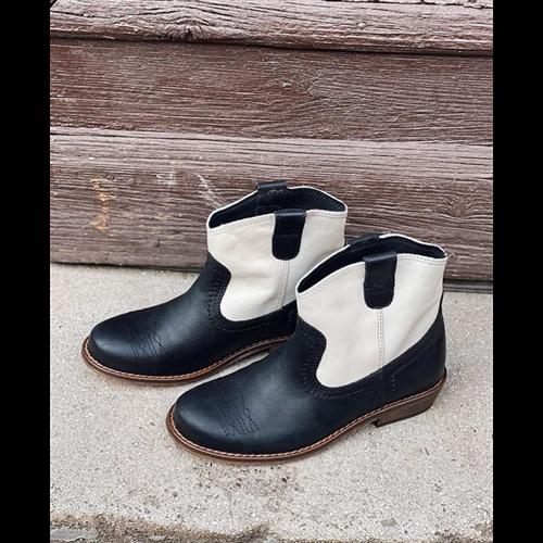 Crno bele čizme  za devojčice kaubojski stil