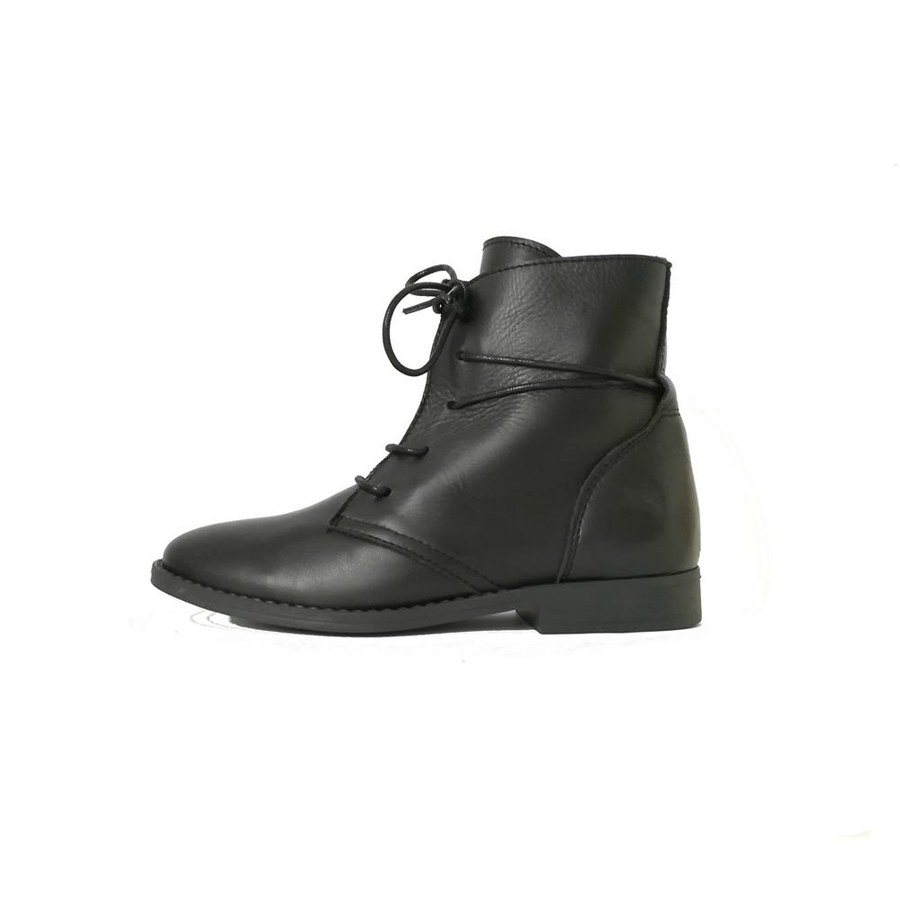 Kožne crne duboke cipele za devojčice