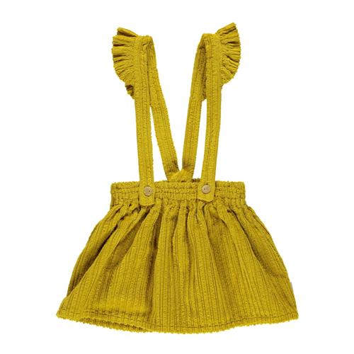 Mini suknja od krupnog mekanog somota sa tregerima
