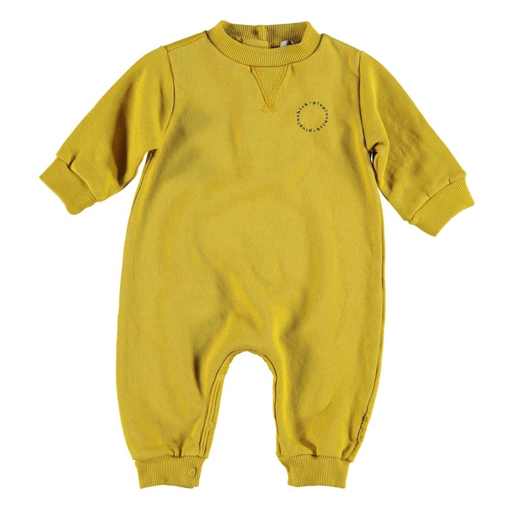 Overal za bebe od organskog pamuka oker boje