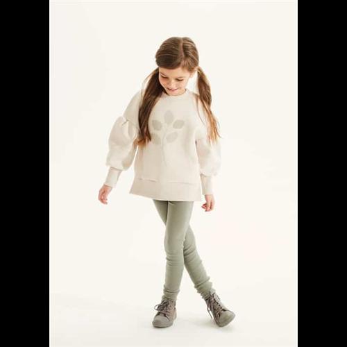 Helanke za devojčice svetlo maslinasta boja