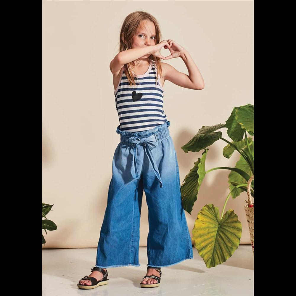 Tanke denim široke pantalone za devojčice