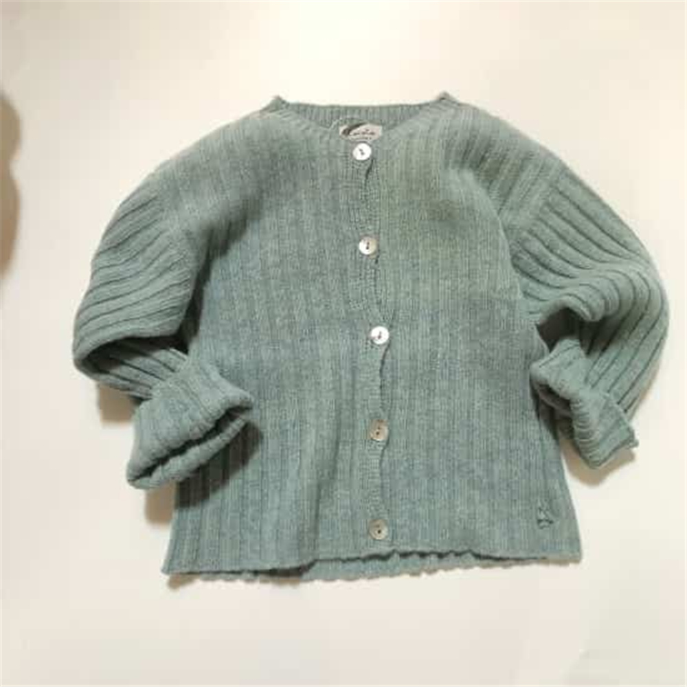 Džemper na kopčanje zelene boje unisex
