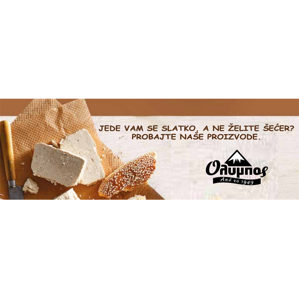 Tahan Halva čokolada sa steviom Olympos 250gr