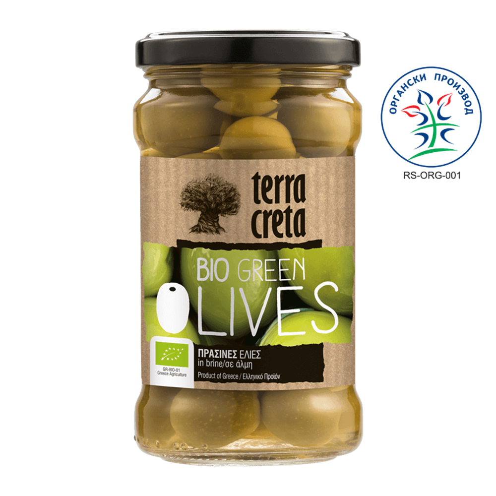 Masline zelene Terra Creta BIO 290gr