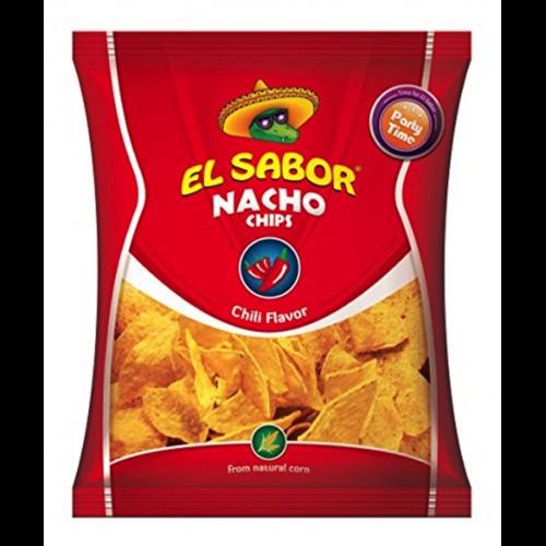 Tortilja nacho čips sa ukusom čili paprike El Sabor 100gr