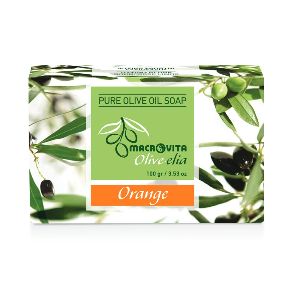 Prirodni sapun od maslinovog ulja sa pomorandžom Macrovita OliveElia100gr