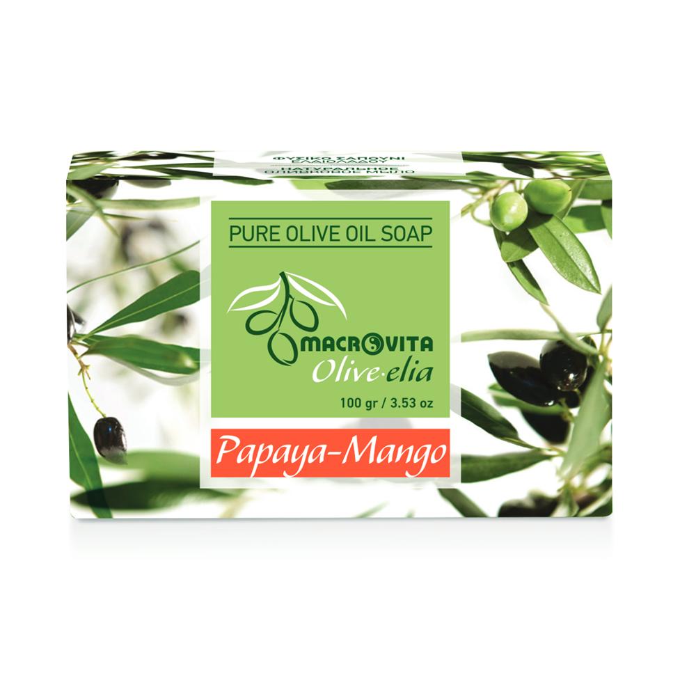 Prirodni sapun od maslinovog ulja sa mangom i papajom Macrovita OliveElia100gr