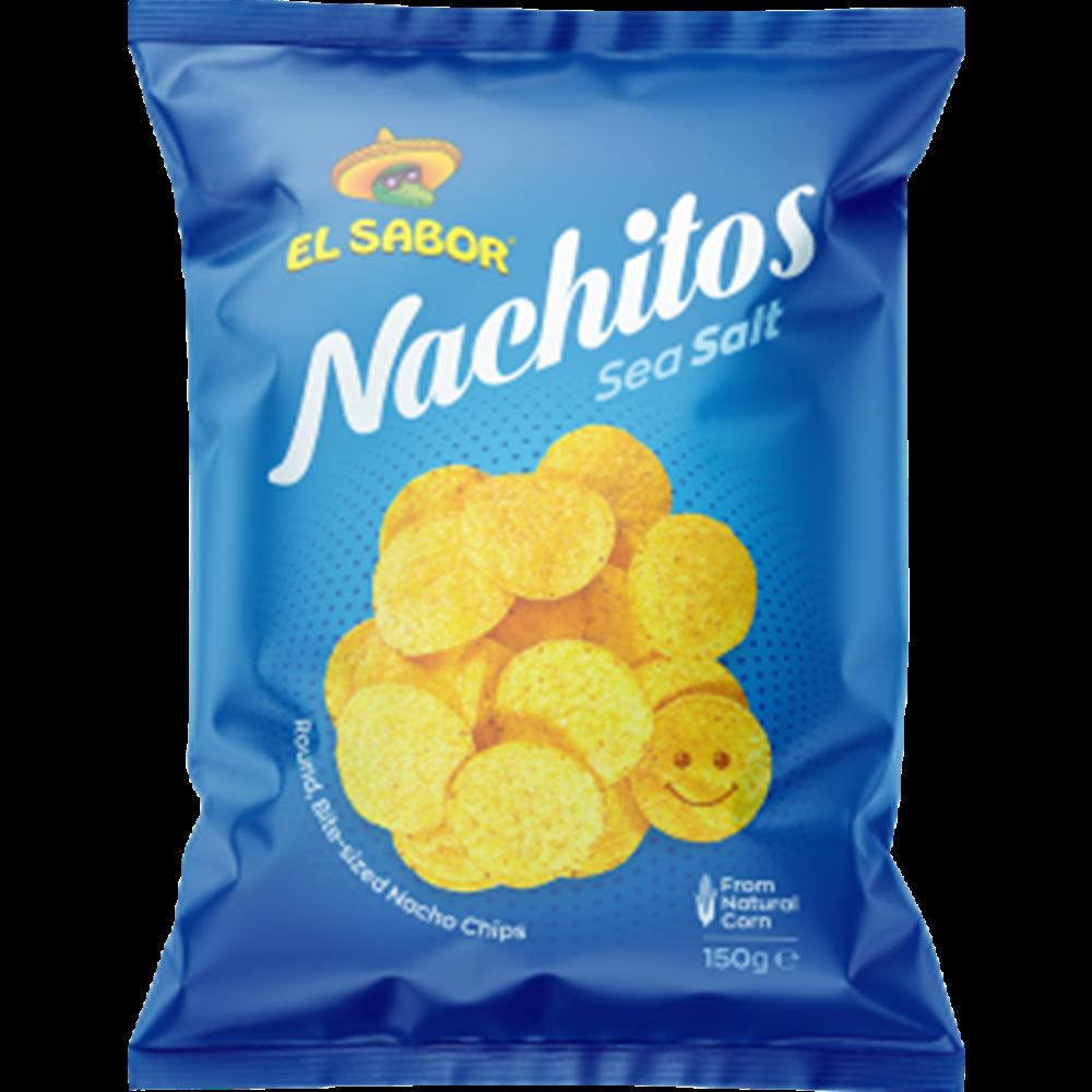 Tortilja čips nachitos morska so, El Sabor 150gr