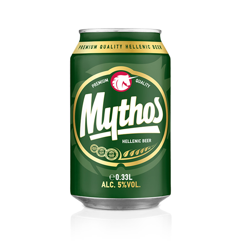 Pivo Mythos limenka 0,33l
