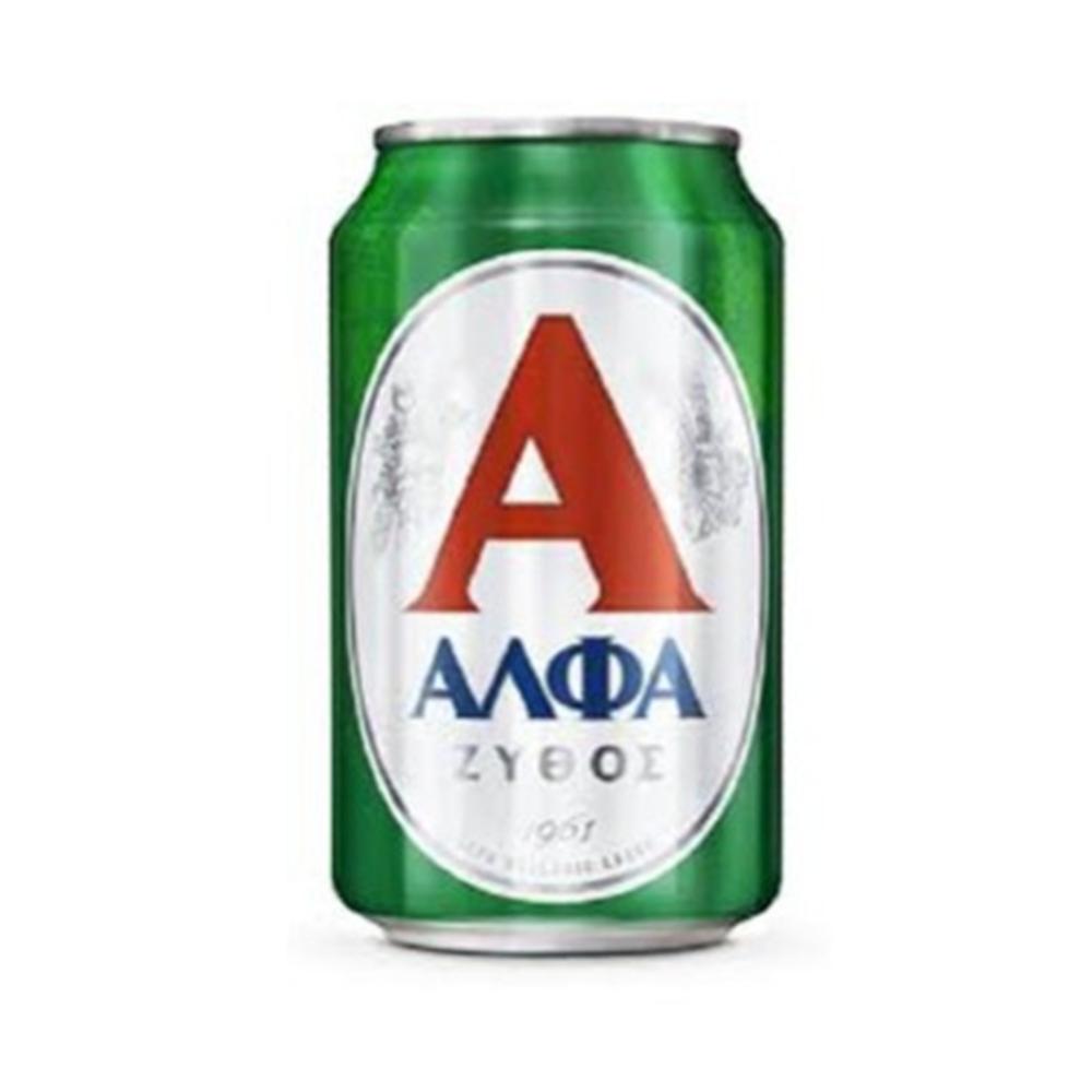 Pivo Alfa limenka 0,33l
