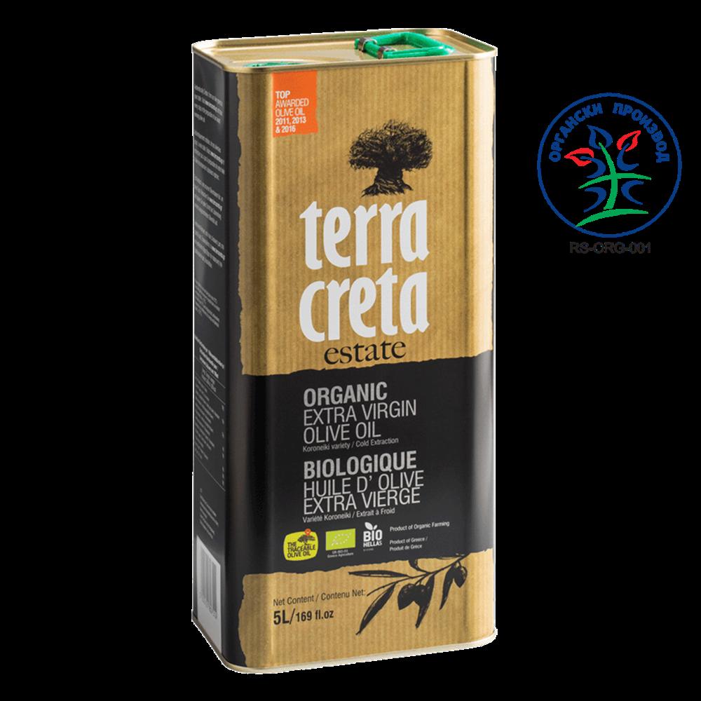 Maslinovo ulje ekstra devičansko Terra Creta BIO 5l