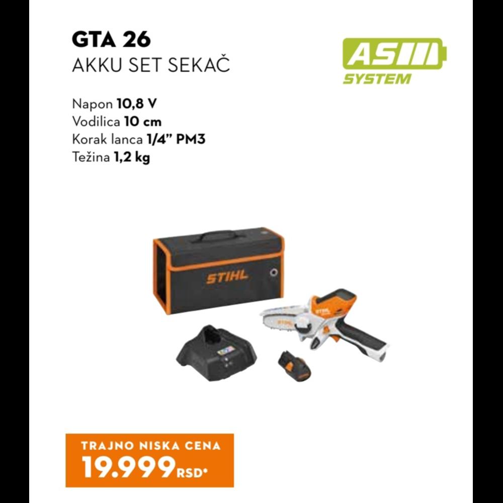 GTA 26 SET AKKU sekač