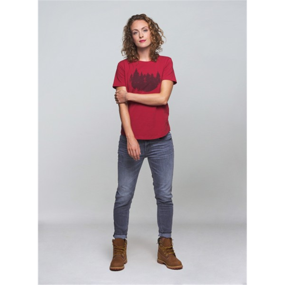 Majica fireforest crvena za dame