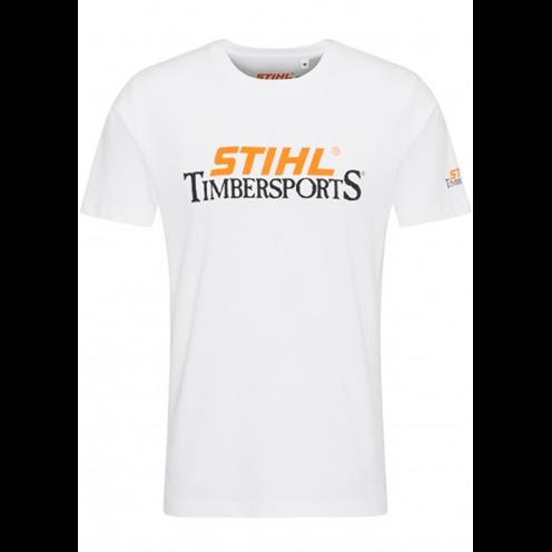 Majica bela sa slovima STIHL TIMBERSPORTS