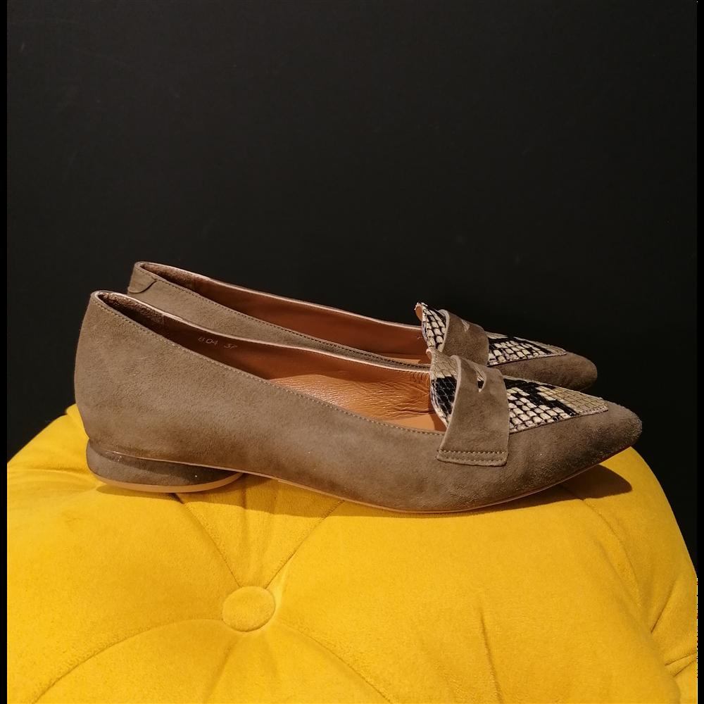 Noa Noir cipele 804 OLIVE GREEN SUED/SNAKE