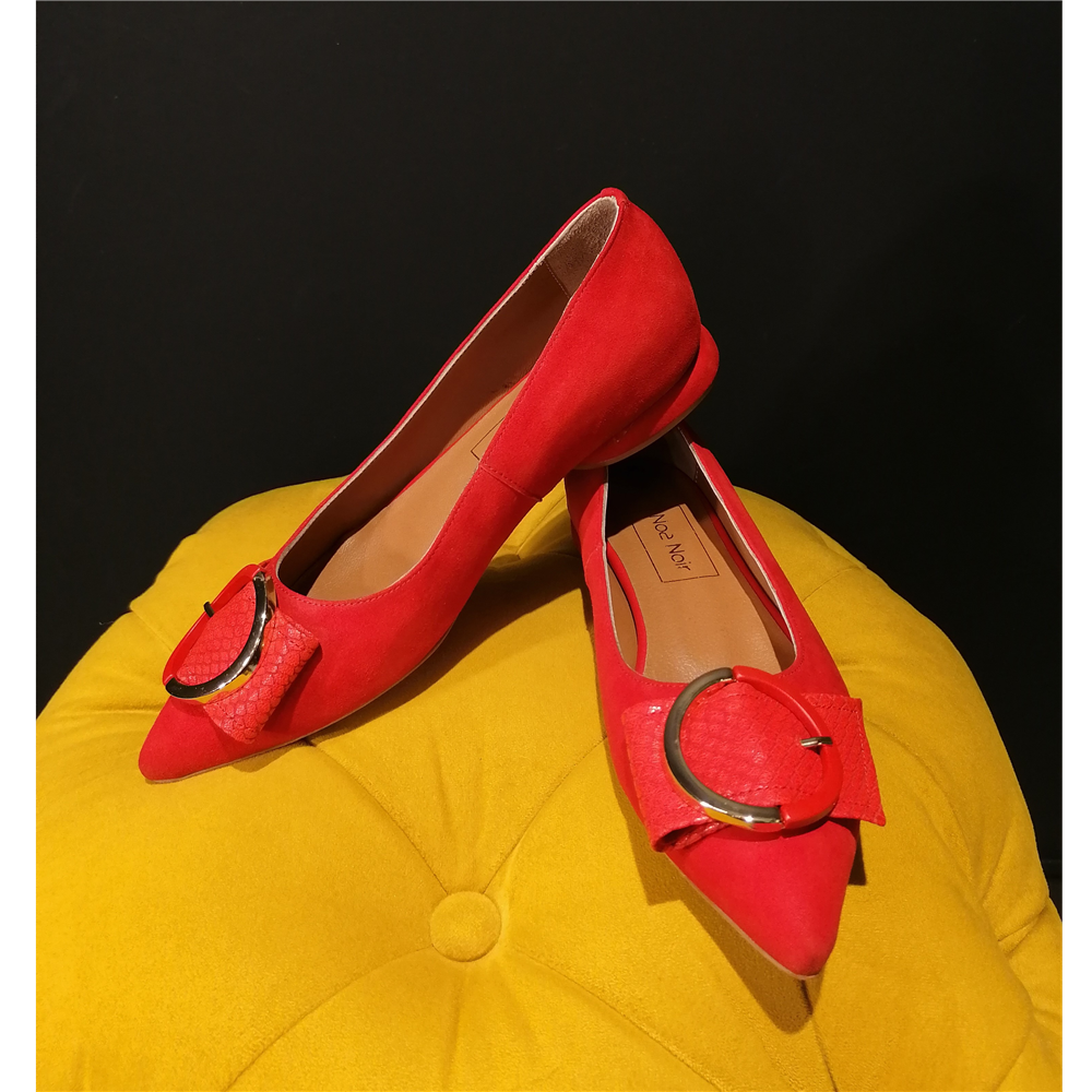 Noa Noir cipele 19112 RED SUEDE/SNAKE