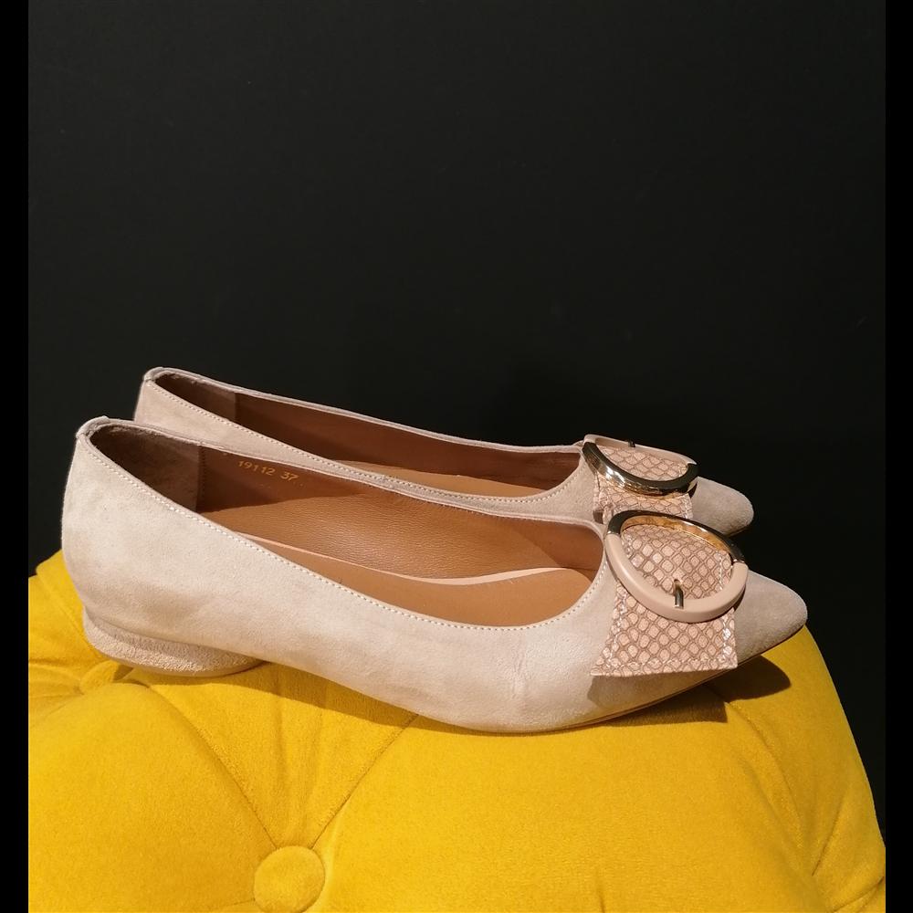 Noa Noir cipele 19112 LATTE SUEDE/SNAKE