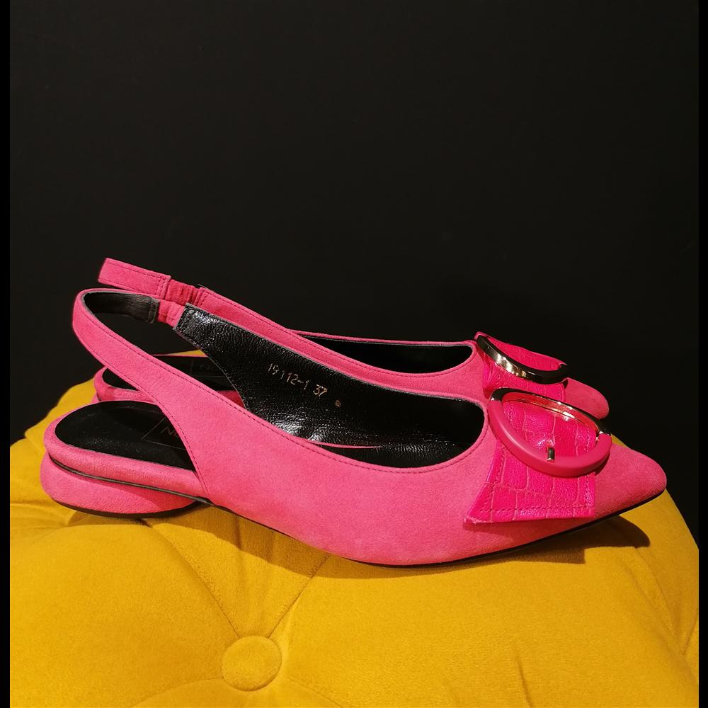 Noa Noir sandale 19112 FUSHIA SUEDE/CROCO