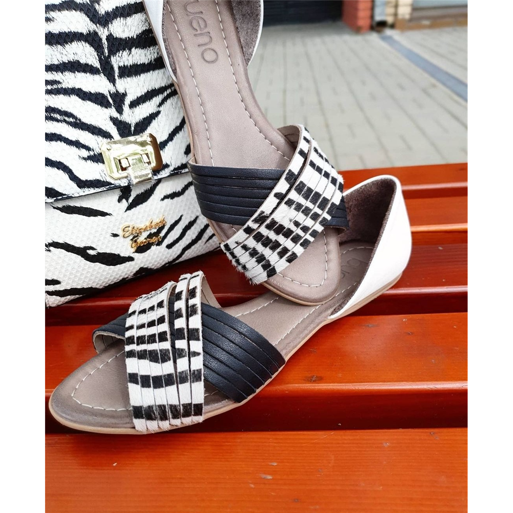 Bueno sandale 21WJ2122 BLACK ZEBRA