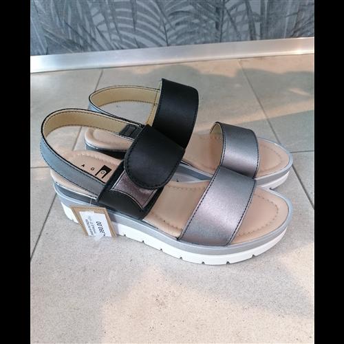 Patrizia sandale ACCIAIO/NERO