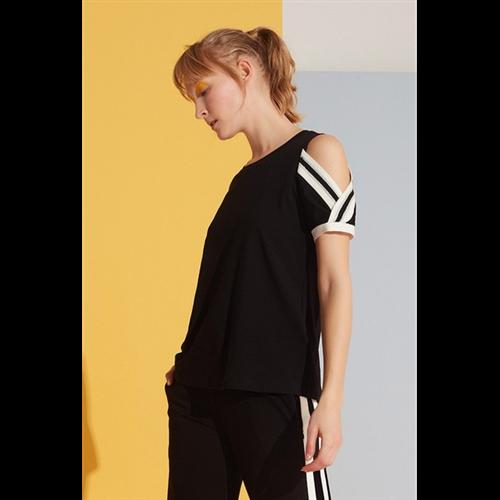 Gizia majica 2Q034 BLACK