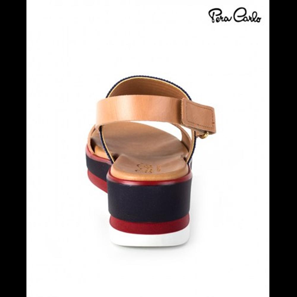 Pera Carlo sandale 4376 EL.BLUE/BEIGE ROSSO