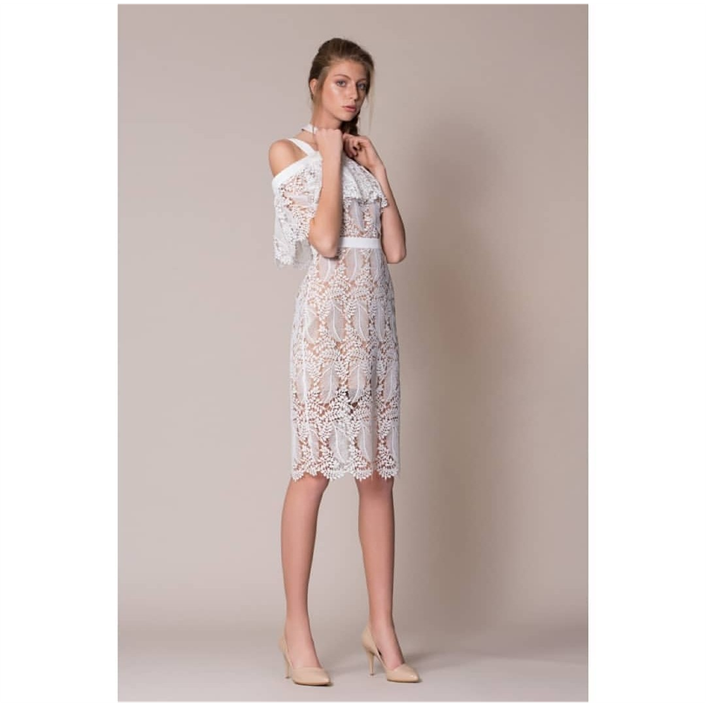Gizia haljina 5W108 ECRU