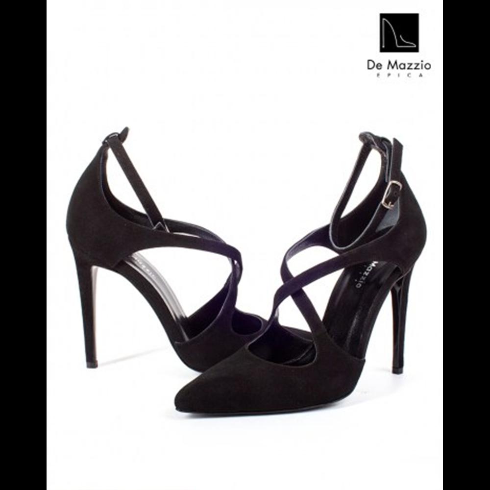De Mazzio cipele 15950 BLACK SUEDE