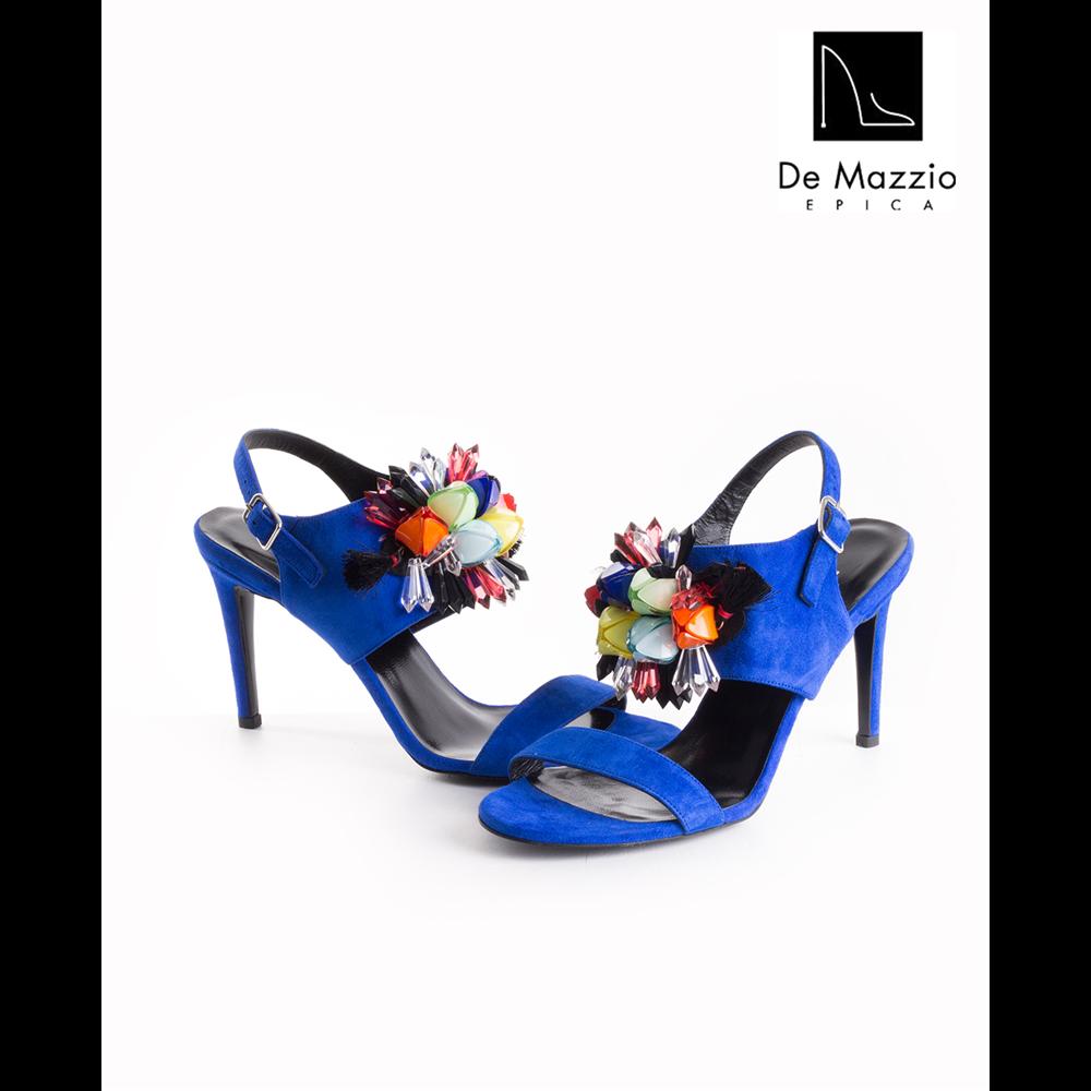 De Mazzio sandale 17564 SAX BLUE SUEDE