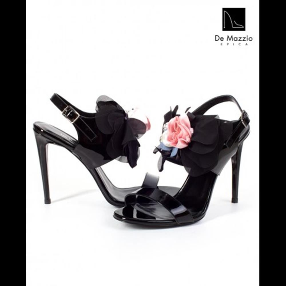 De Mazzio sandale 17579 BLACK PATENT LEATHER