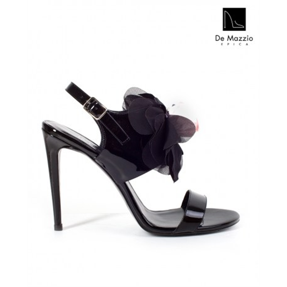 De Mazzio sandale 17579 BLACK PATENT LEATHER