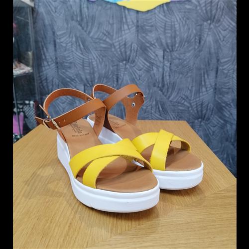 Patrizia sandale KB04G GIALLO/CUOIO