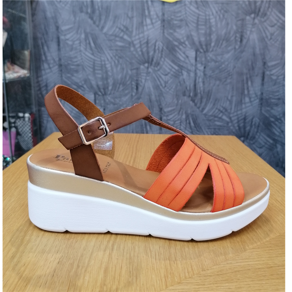 Patrizia sandale KB14 ARANCIO/MARRONE