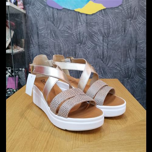 Patrizia sandale KB66 BEIGE/PLATINO