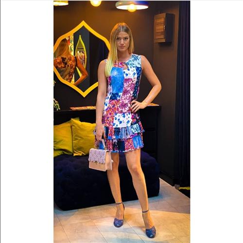 Kiwe haljina ZQ072 INDIGO