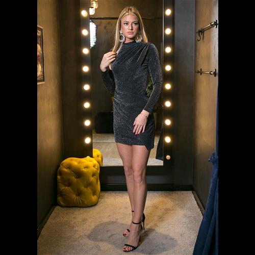Gizia haljina 5X098 BLACK