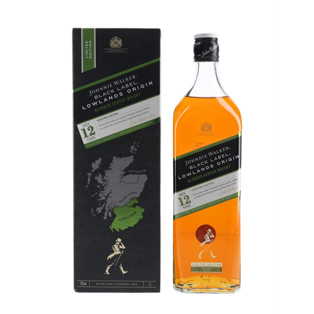 Johnnie Walker Black Label Lowlands Origin 1l