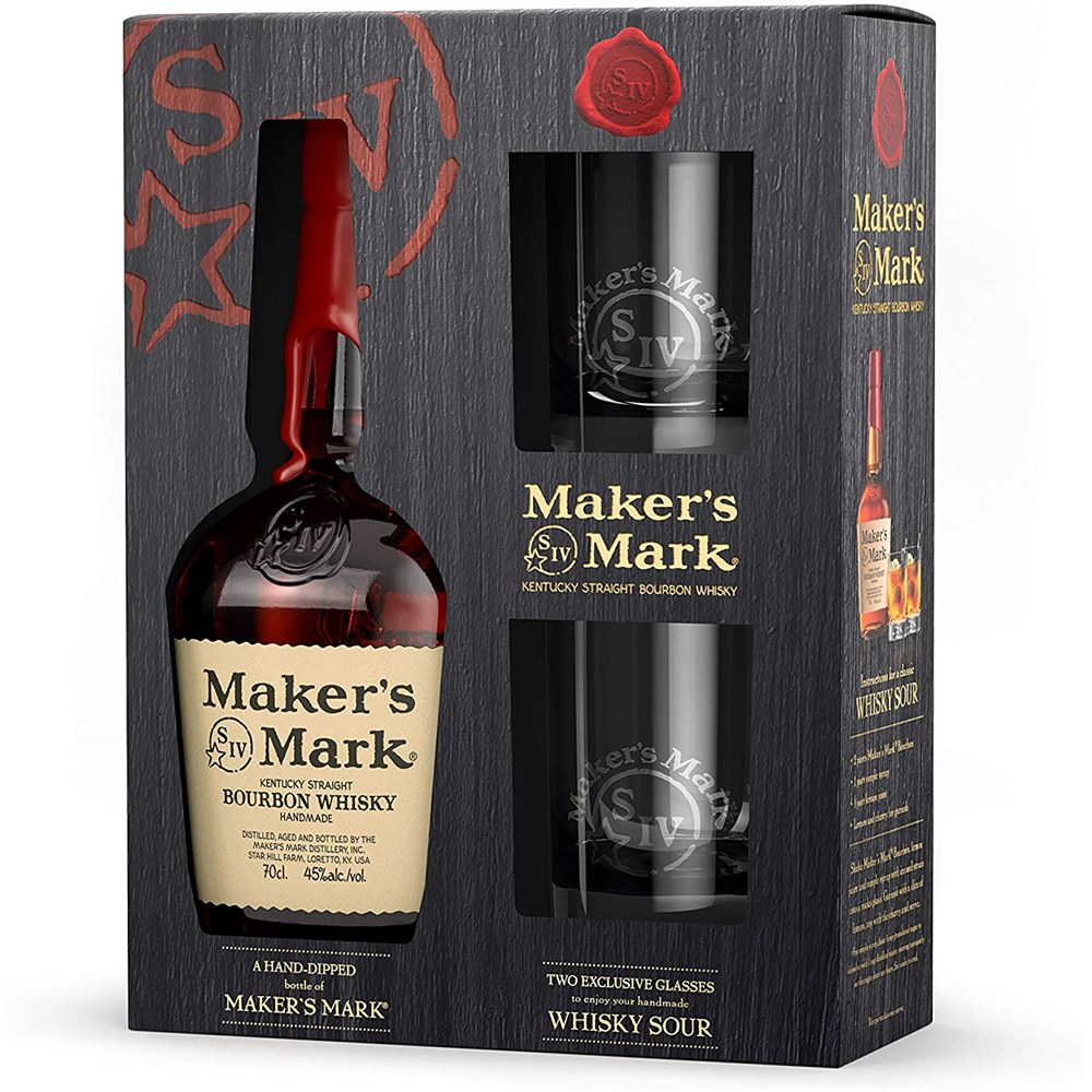 Maker's Mark + 2 čaše  0.70