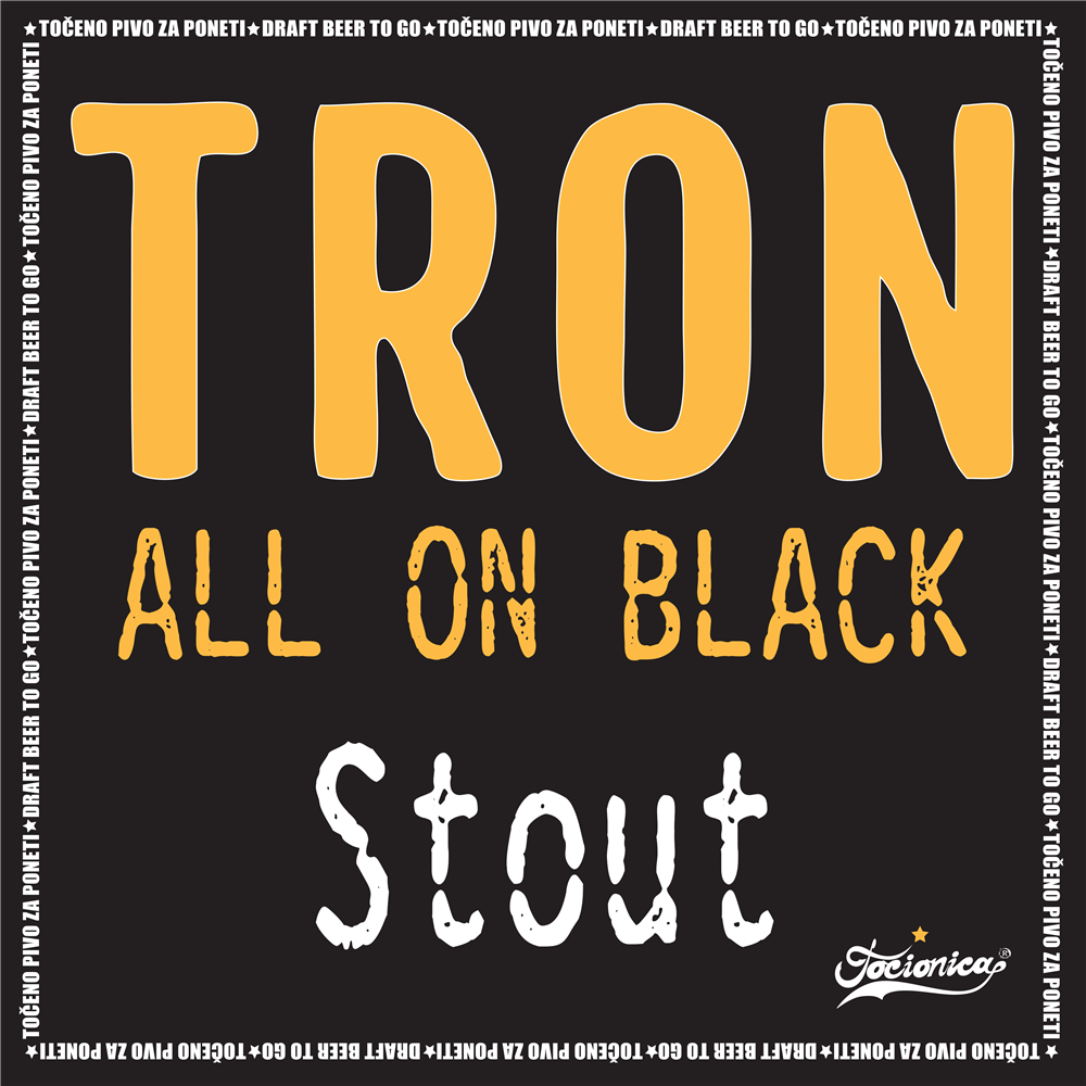 TRON All On Black Stout 1l