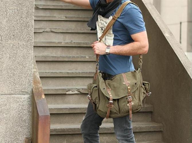 Muška platnena torba Hermes