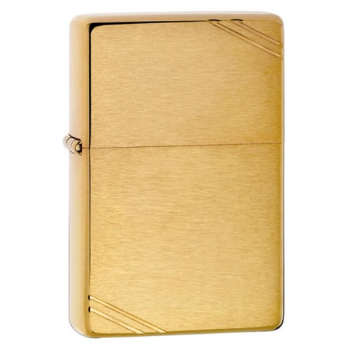 Zippo Vintage Slashes Brushed Brass