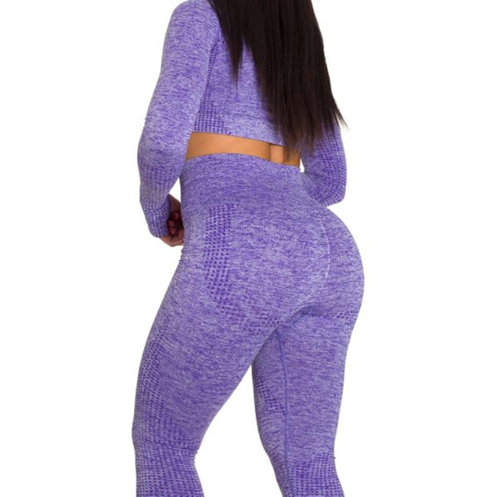 Sportski Ženski Komplet Helanke i Top - Purple