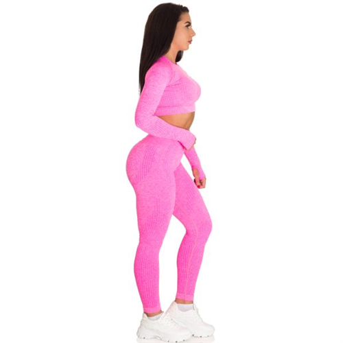 Sportski Ženski Komplet Helanke i Top - Pink
