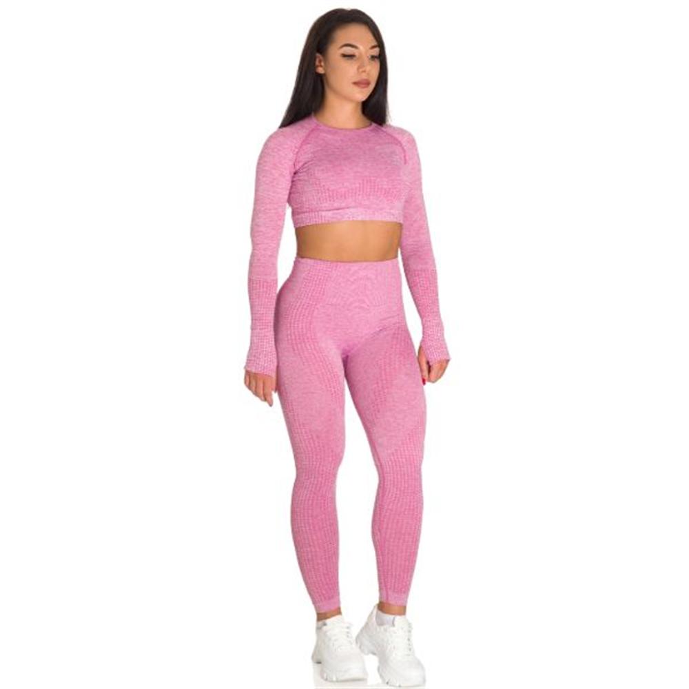 Sportski Ženski Komplet Helanke i Top - Dirty Pink