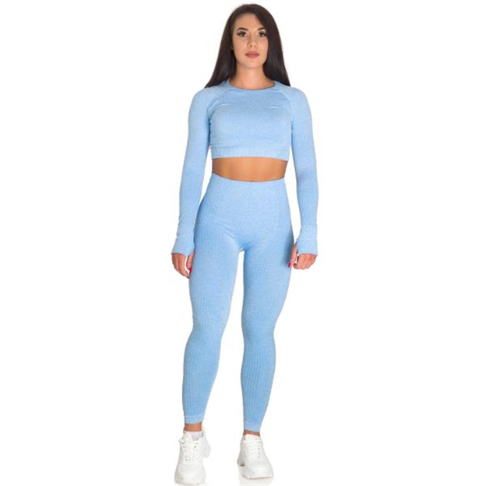 Sportski Ženski Komplet Helanke i Top - Baby Blue