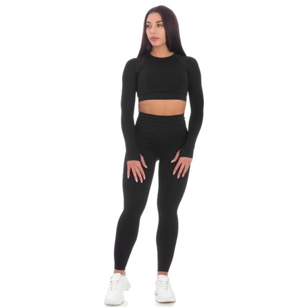 Sportski Ženski Komplet Helanke i Top - Sport Black