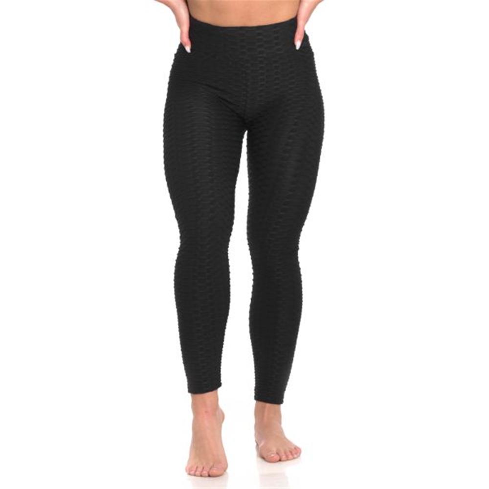 Sportske Ženske Push-Up Helanke - Fitness Black